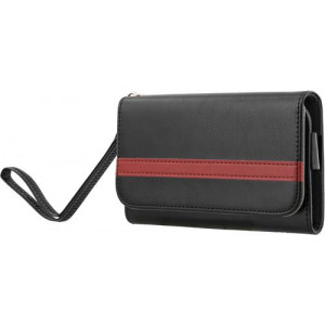 """STREETZ plånboksfodral för 4-5,1""""-smartphones, konstläder, Svart"""