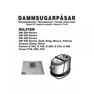 Dammsugarpåsar (5-pack) Nilfisk