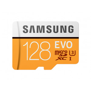 microSD - 128GB Samsung MicroSD EVO R100/W90.