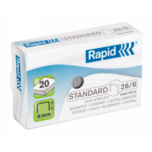 Häftklammer 26/6 standard 1000st Rapid