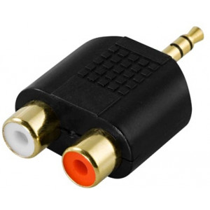 Audioadapter 3.5mm - RCA x 2 (ha-ho).