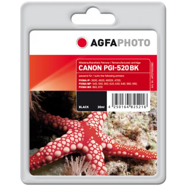 AgfaPhoto APCPGI520BD Svart bläckpatroner