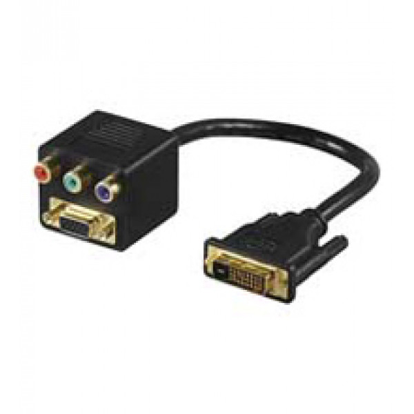 Goobay MMK ADAP 12+5 DVI-I > RGB + SVGA DVI M RGB F + SVGA F Svart kabeladaptrar