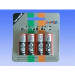 Batteri AA (LR6) Laddningsbara 2500mAh (4-pack).