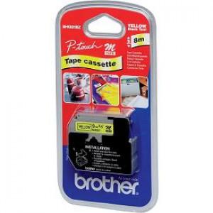 Brother M-K621B Svart på gul M etikett-tejp