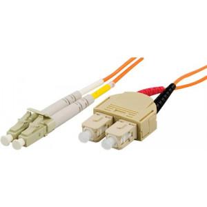 DELTACO fiberkablage LC - SC, duplex, multimode, 50/125, 1m