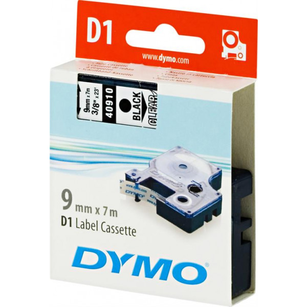 DYMO D1 märktejp 9mm 7m svart/transparent Original