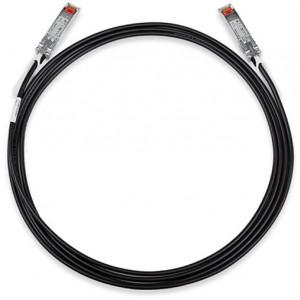TP-LINK TXC432-CU1M 1m Svart nätverkskablar
