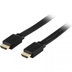 Kabel HDMI - HDMI (ha-ha)  (5m) Svart Flat