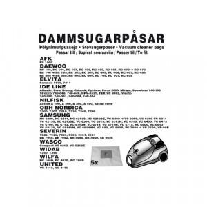 Dammsugarpåsar (5-pack) AFK / Daewoo / Elvita / ID