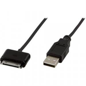 DELTACO USB-synkkabel till iPhone/iPod, 1m, svart
