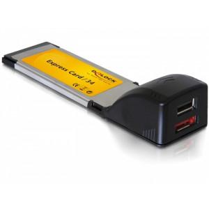 ExpressCard 34mm - USB + eSATA