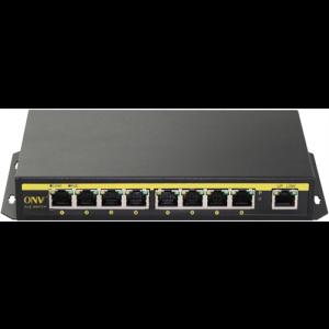 PoE-Switch 9-portars, 110w, 8xRJ45 PoE, 1xRJ45 uplink, 10/100Mbps