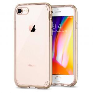 """Spigen iPhone 8 Case Neo Hybrid Crystal 2 4.7"""" Omslag Guld, Transparent"""