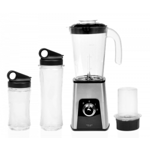 3-in-1 Mini Table Blender, silver och svart