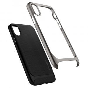 Skal Spigen iPhone X Neo Hybrid Cover case metallisk