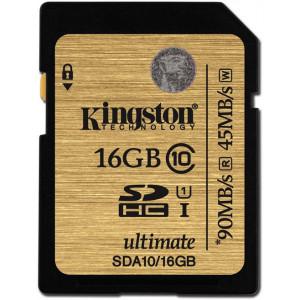 SDXC 16GB Class10 - Kingston UHS-I Ultimate 90Mb/s