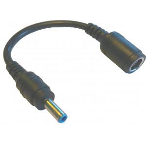 Adapter omvandlar HP laddkontakt från stor 7.4x5.0 till liten 4.5x3.0 blå anslutning Laddadapter 7.4x5.0 till 4.5x3.0mm HP/Dell/Asus MBCONVERTER4.5X3.0