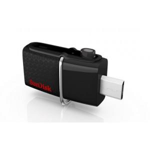 Sandisk Ultra Dual USB Drive 3.0 USB-sticka 64 GB 3.0 (3.1 Gen 1) USB A-typ kontakt Svart