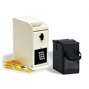 Rånskyddsbox med kodlås och tidsfördröjning