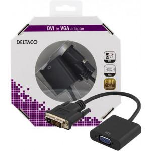 Adapter DVI - VGA Signalomvandlare DVI-D VGA bulk.