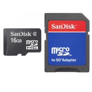 Sandisk SDSDQB-016G-B35 + Adapter flashminne 16 GB MicroSD