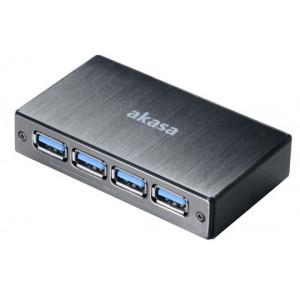 Akasa Connect 4SV 5000Mbit/s Svart gränssnittshubbar