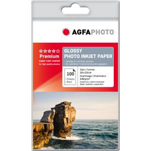 Fotopapper A6 10x15cm 240g Glossy InkJet 100st AP240100A6