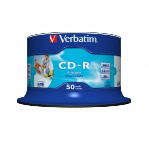 Verbatim CD-R 52X (50-pack) spindel Printable