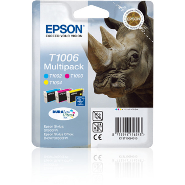 Epson Multipack 3-colours T1006 DURABrite Ultra Ink