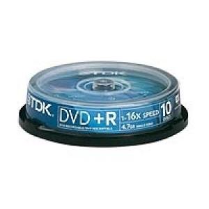 TDK DVD+R 16X (10-pack)