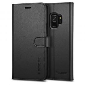 """Spigen Galaxy S9 Case Wallet S 5.8"""" Plånbok Svart"""