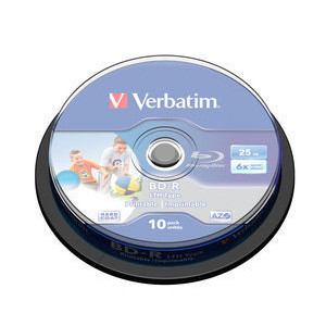 Verbatim Blu-Ray 25GB BD-R 6X (10-pack) 43751