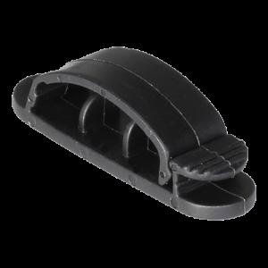 Självhäftande kabelklämma 3 platser 3-pack svart
