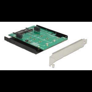 HDD-adapter 2 x M.2 SATA-platser till 2 x SATA 7-pin