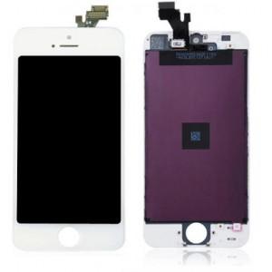 Glas iPhone 5 - Vit Hög kvalitet Grade AAA