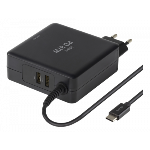 Laddare USB-C 87W Macbook/HP/Dell/Asus/Acer/Lenovo SMP-USBC87PD3
