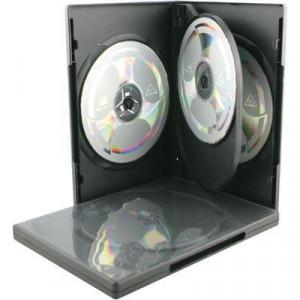 DVD-BOX DVD-54 Hårdplast för 4 skivor (5-pack)