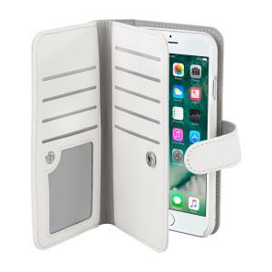 Fodral - iPhone 7/8 - Dubbel Plånboksfodral Vit