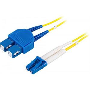 DELTACO Fiberkablage LC - SC, duplex, singlemode OS2, 0,5m