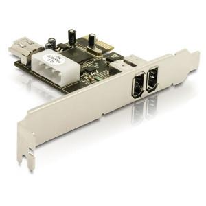 DeLOCK FireWIre PCI Express Card nätverkskort/adapters
