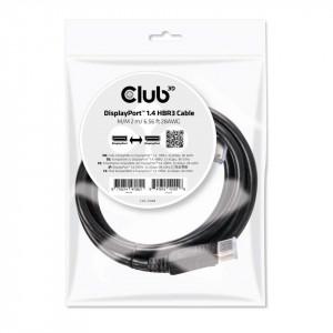 DisplayPort 1.4 2M HBR3 Cable M/M Club3D