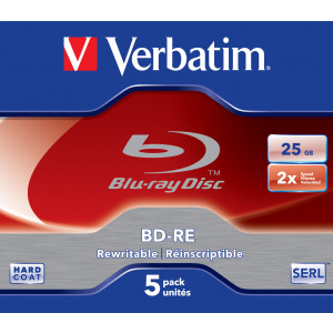 Verbatim BD-RE SL 25GB 2x 5 Pack Jewel Case BD-RE 25GB 5styck