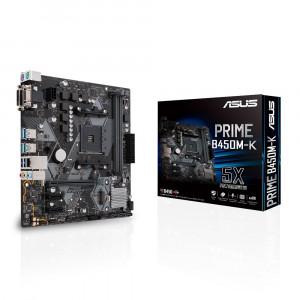 ASUS PRIME B450M-K Uttag AM4 AMD B450 Micro ATX
